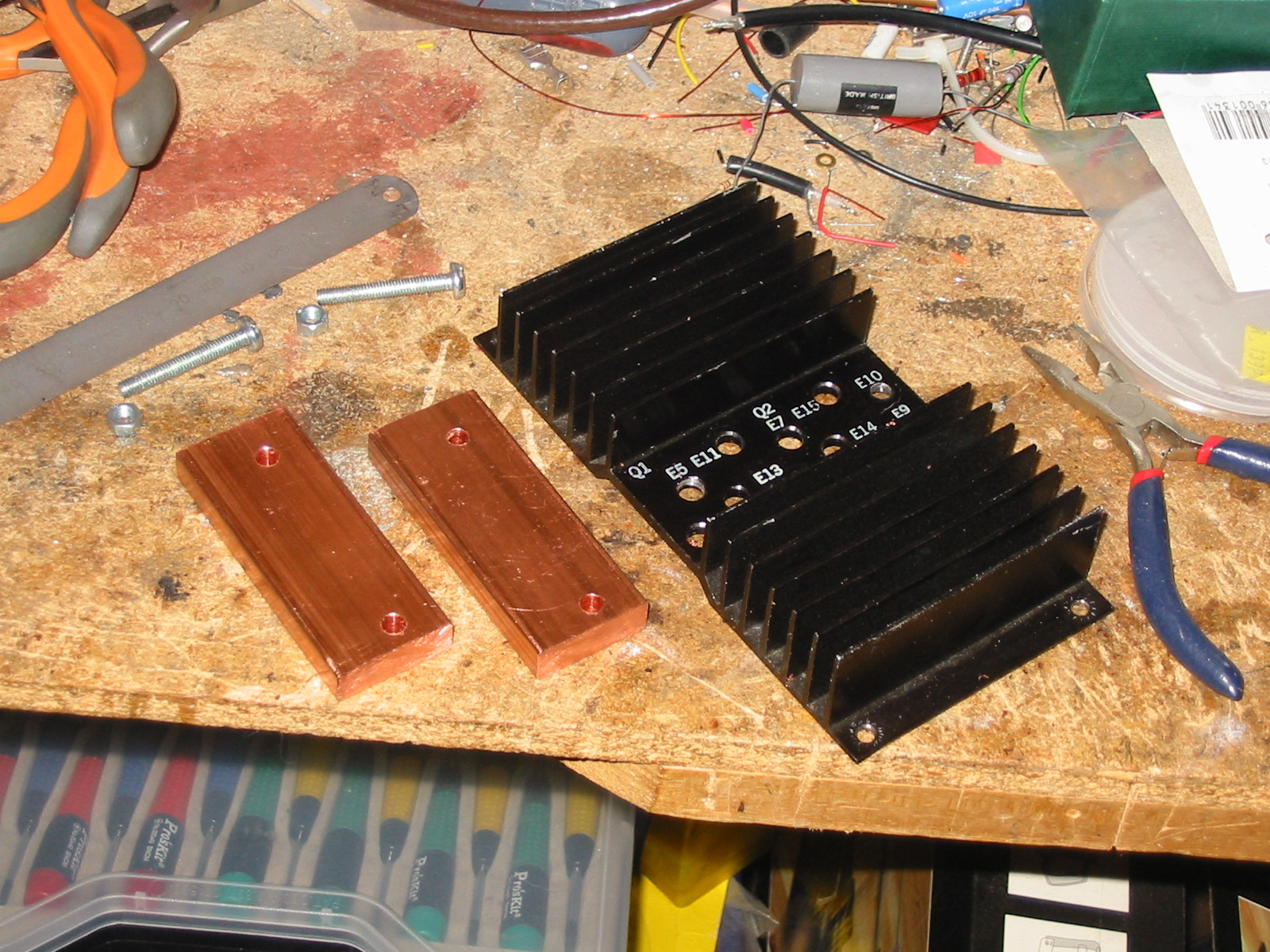 Marwyn And Johns Home Pages 144mhz Power Amplifier Circuit Heat Sink Bits